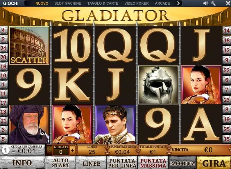 slot machine gratis il gladiatore